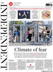 The Independent (UK) Newspaper Front Page for 30 August 2014