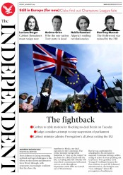 The Independent (UK) Newspaper Front Page for 30 August 2019