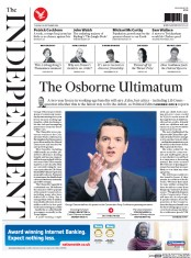 The Independent (UK) Newspaper Front Page for 30 September 2014