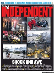 The Independent Newspaper Front Page (UK) for 31 October 2012