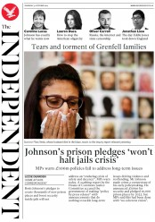 The Independent (UK) Newspaper Front Page for 31 October 2019