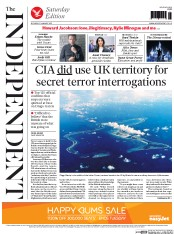 The Independent (UK) Newspaper Front Page for 31 January 2015