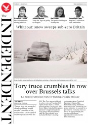The Independent (UK) Newspaper Front Page for 31 January 2019