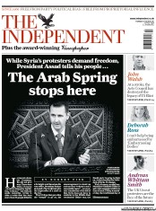 The Independent Newspaper Front Page (UK) for 31 March 2011