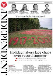The Independent (UK) Newspaper Front Page for 31 July 2017