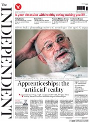The Independent (UK) Newspaper Front Page for 31 August 2015