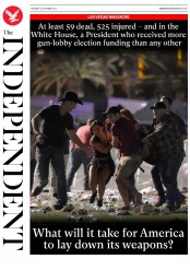 The Independent (UK) Newspaper Front Page for 3 October 2017