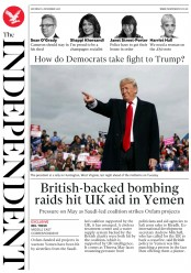 The Independent (UK) Newspaper Front Page for 3 November 2018