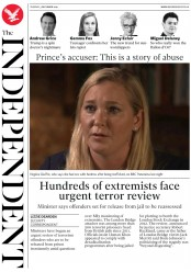 The Independent () Newspaper Front Page for 3 December 2019