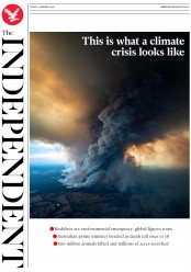The Independent (UK) Newspaper Front Page for 3 January 2020