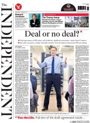 The Independent () Newspaper Front Page for 3 February 2016