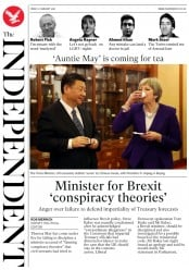 The Independent (UK) Newspaper Front Page for 3 February 2018
