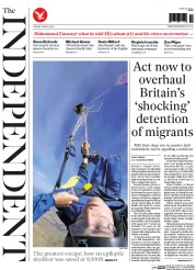 The Independent (UK) Newspaper Front Page for 3 March 2015