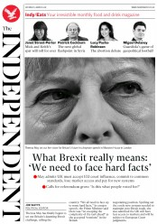 The Independent (UK) Newspaper Front Page for 3 March 2018