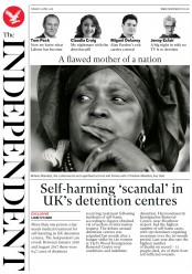 The Independent (UK) Newspaper Front Page for 3 April 2018
