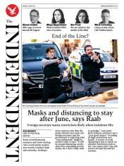 The Independent front page for 3 May 2021