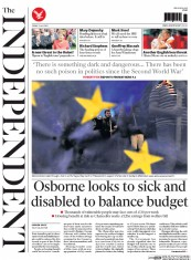 The Independent (UK) Newspaper Front Page for 3 July 2015