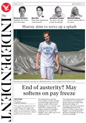 The Independent (UK) Newspaper Front Page for 3 July 2017