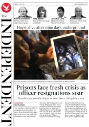 The Independent (UK) Newspaper Front Page for 3 July 2018