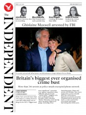 The Independent front page for 3 July 2020