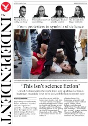 The Independent (UK) Newspaper Front Page for 3 August 2019