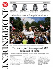 The Independent front page for 3 August 2020