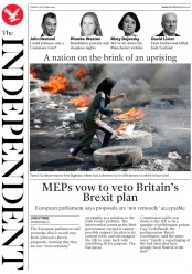 The Independent (UK) Newspaper Front Page for 4 October 2019