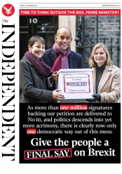 The Independent (UK) Newspaper Front Page for 4 December 2018