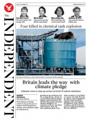 The Independent front page for 4 December 2020