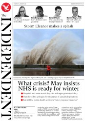 The Independent (UK) Newspaper Front Page for 4 January 2018