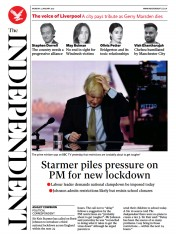 The Independent front page for 4 January 2021