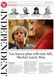 The Independent (UK) Newspaper Front Page for 4 February 2017