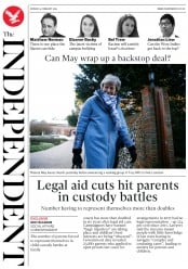 The Independent (UK) Newspaper Front Page for 4 February 2019