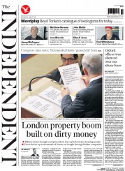 The Independent (UK) Newspaper Front Page for 4 March 2015