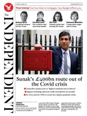 The Independent front page for 4 March 2021