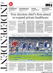 The Independent (UK) Newspaper Front Page for 4 May 2015
