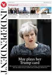The Independent (UK) Newspaper Front Page for 4 May 2017
