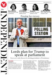 The Independent (UK) Newspaper Front Page for 4 May 2018