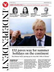 The Independent front page for 4 May 2021