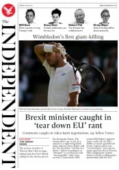 The Independent (UK) Newspaper Front Page for 4 July 2017