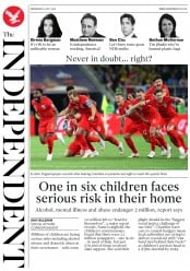 The Independent (UK) Newspaper Front Page for 4 July 2018