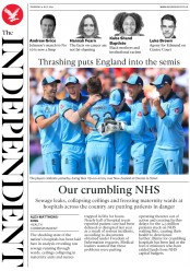 The Independent (UK) Newspaper Front Page for 4 July 2019