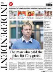 The Independent (UK) Newspaper Front Page for 4 August 2015