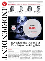 The Independent front page for 4 August 2020