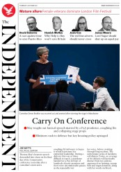 The Independent (UK) Newspaper Front Page for 5 October 2017