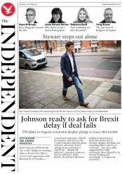The Independent (UK) Newspaper Front Page for 5 October 2019