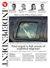 The Independent front page for 5 October 2020