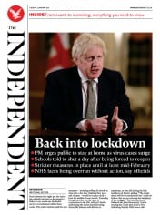 The Independent (UK) Newspaper Front Page for 5 January 2021