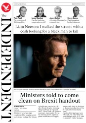 The Independent (UK) Newspaper Front Page for 5 February 2019