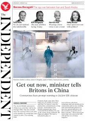 The Independent (UK) Newspaper Front Page for 5 February 2020